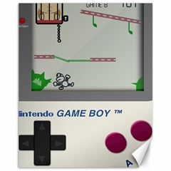 Game Boy White Canvas 11  X 14