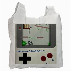 Game Boy White Recycle Bag (two Side)
