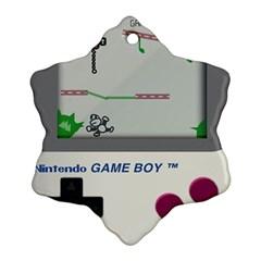 Game Boy White Ornament (snowflake)