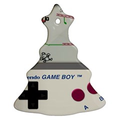Game Boy White Christmas Tree Ornament (two Sides)