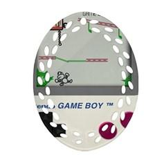 Game Boy White Ornament (oval Filigree)