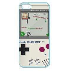 Game Boy White Apple Seamless Iphone 5 Case (color)