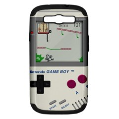Game Boy White Samsung Galaxy S Iii Hardshell Case (pc+silicone)