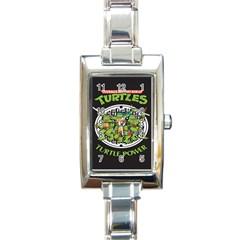 Teenage Mutant Ninja Turtles Hero Rectangle Italian Charm Watch
