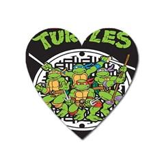 Teenage Mutant Ninja Turtles Hero Heart Magnet