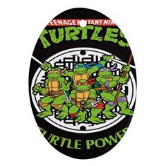 Teenage Mutant Ninja Turtles Hero Oval Ornament (two Sides)
