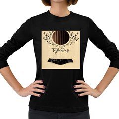 Classic Vintage Guitar Women s Long Sleeve Dark T Shirts