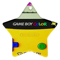 Game Boy Yellow Ornament (star)