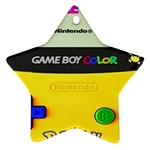 Game Boy yellow Ornament (Star) Front