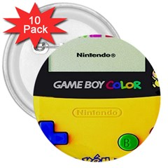 Game Boy Yellow 3  Buttons (10 Pack)