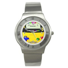 Game Boy Yellow Stainless Steel Watch