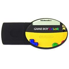 Game Boy Yellow Usb Flash Drive Oval (4 Gb)
