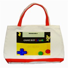 Game Boy Yellow Classic Tote Bag (red)