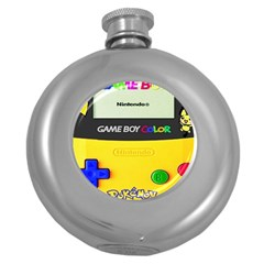 Game Boy Yellow Round Hip Flask (5 Oz)
