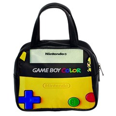 Game Boy Yellow Classic Handbags (2 Sides)