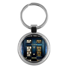 Tardis Sherlock Holmes 221b Key Chains (round)