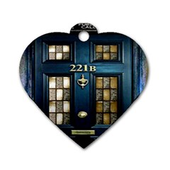 Tardis Sherlock Holmes 221b Dog Tag Heart (one Side)