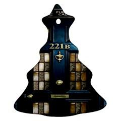 Tardis Sherlock Holmes 221b Christmas Tree Ornament (two Sides)