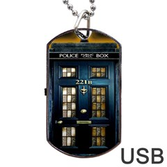 Tardis Sherlock Holmes 221b Dog Tag Usb Flash (one Side) by Samandel