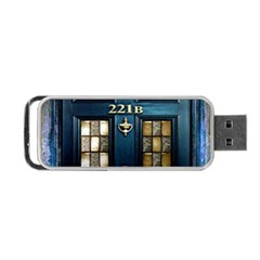 Tardis Sherlock Holmes 221b Portable Usb Flash (two Sides) by Samandel