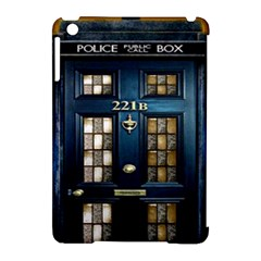 Tardis Sherlock Holmes 221b Apple Ipad Mini Hardshell Case (compatible With Smart Cover)