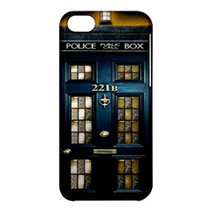 Tardis Sherlock Holmes 221b Apple Iphone 5c Hardshell Case