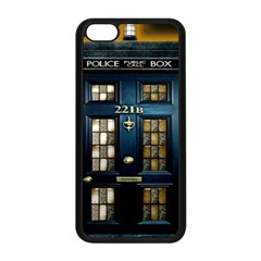 Tardis Sherlock Holmes 221b Apple Iphone 5c Seamless Case (black)