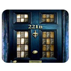 Tardis Sherlock Holmes 221b Double Sided Flano Blanket (medium)