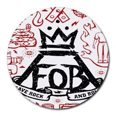 Save Rock And Roll Fob Fall Out Boy Round Mousepads