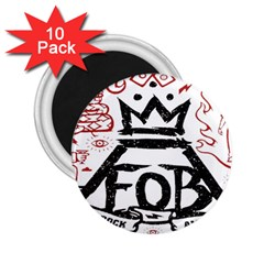 Save Rock And Roll Fob Fall Out Boy 2 25  Magnets (10 Pack)