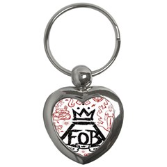 Save Rock And Roll Fob Fall Out Boy Key Chains (heart)