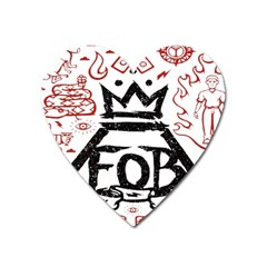 Save Rock And Roll Fob Fall Out Boy Heart Magnet
