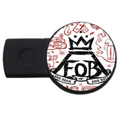 Save Rock And Roll Fob Fall Out Boy Usb Flash Drive Round (2 Gb) by Samandel