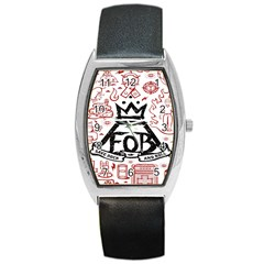 Save Rock And Roll Fob Fall Out Boy Barrel Style Metal Watch