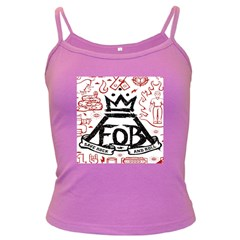 Save Rock And Roll Fob Fall Out Boy Dark Spaghetti Tank