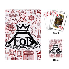 Save Rock And Roll Fob Fall Out Boy Playing Card by Samandel