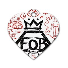 Save Rock And Roll Fob Fall Out Boy Dog Tag Heart (one Side) by Samandel