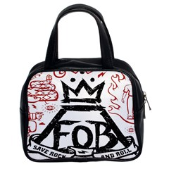 Save Rock And Roll Fob Fall Out Boy Classic Handbags (2 Sides)