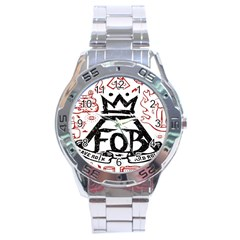 Save Rock And Roll Fob Fall Out Boy Stainless Steel Analogue Watch
