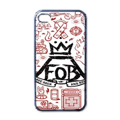 Save Rock And Roll Fob Fall Out Boy Apple Iphone 4 Case (black)