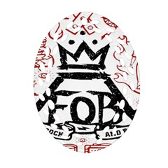 Save Rock And Roll Fob Fall Out Boy Ornament (oval Filigree) by Samandel