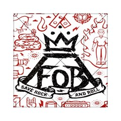Save Rock And Roll Fob Fall Out Boy Acrylic Tangram Puzzle (6  X 6 )