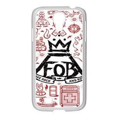 Save Rock And Roll Fob Fall Out Boy Samsung Galaxy S4 I9500/ I9505 Case (white)
