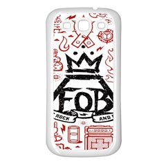 Save Rock And Roll Fob Fall Out Boy Samsung Galaxy S3 Back Case (white)