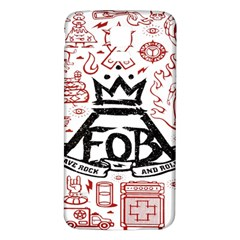Save Rock And Roll Fob Fall Out Boy Samsung Galaxy S5 Back Case (white) by Samandel