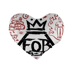 Save Rock And Roll Fob Fall Out Boy Standard 16  Premium Flano Heart Shape Cushions
