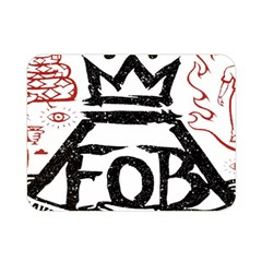 Save Rock And Roll Fob Fall Out Boy Double Sided Flano Blanket (mini)