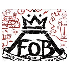 Save Rock And Roll Fob Fall Out Boy Double Sided Flano Blanket (medium)  by Samandel