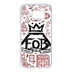 Save Rock And Roll Fob Fall Out Boy Samsung Galaxy S7 Edge White Seamless Case by Samandel