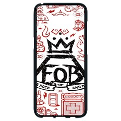 Save Rock And Roll Fob Fall Out Boy Samsung Galaxy S8 Black Seamless Case